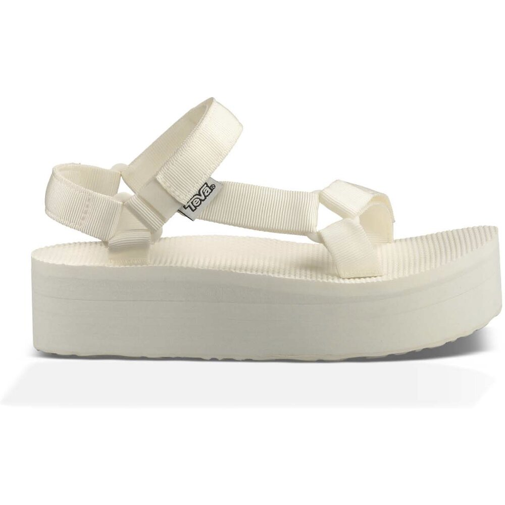 Image of TEVA BRIGHT WHITE WOMEN'S FLATFORM UNIVERSAL
