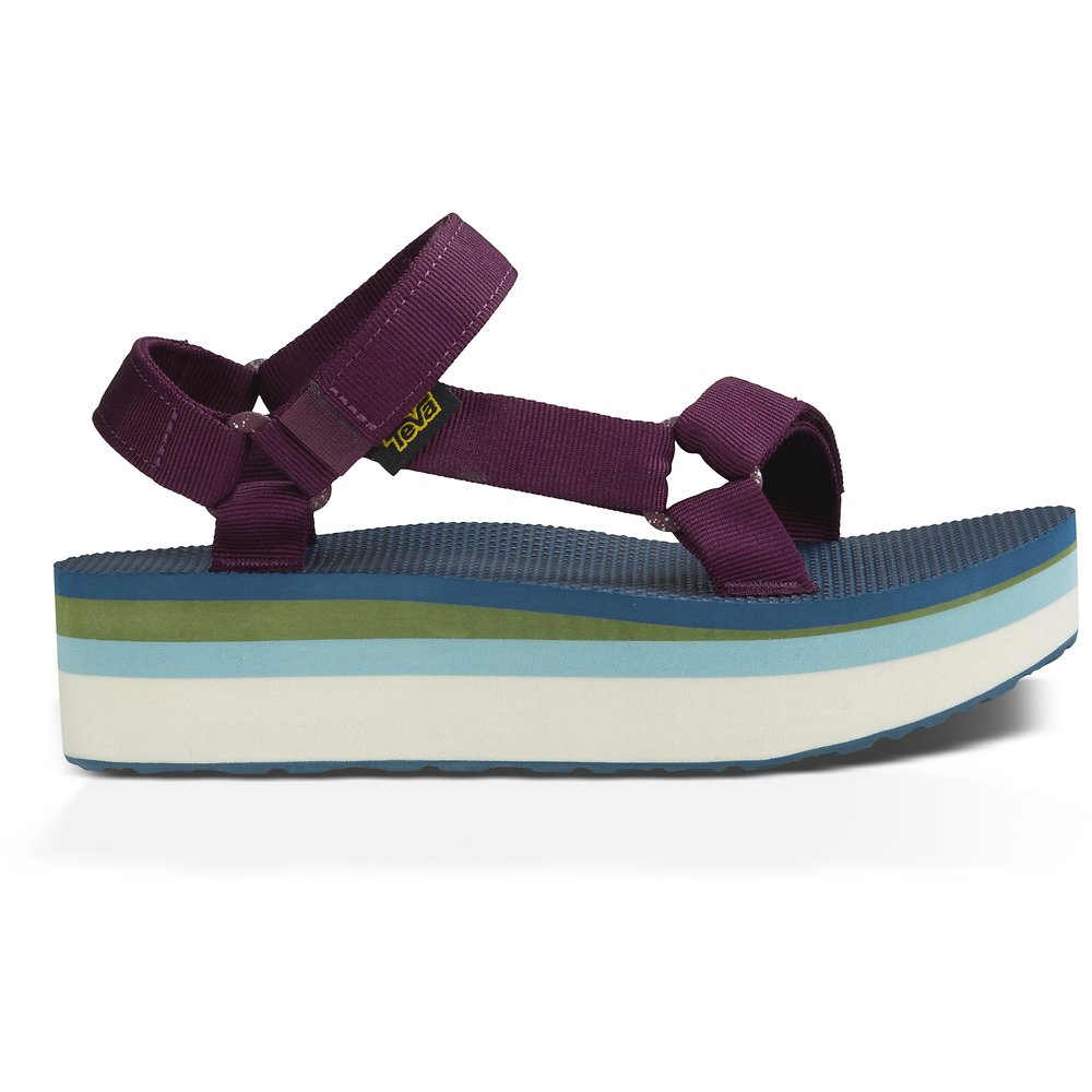 ccd29d9d139e Image of TEVA GRAPE WINE WOMEN S FLATFORM UNIVERSAL RETRO