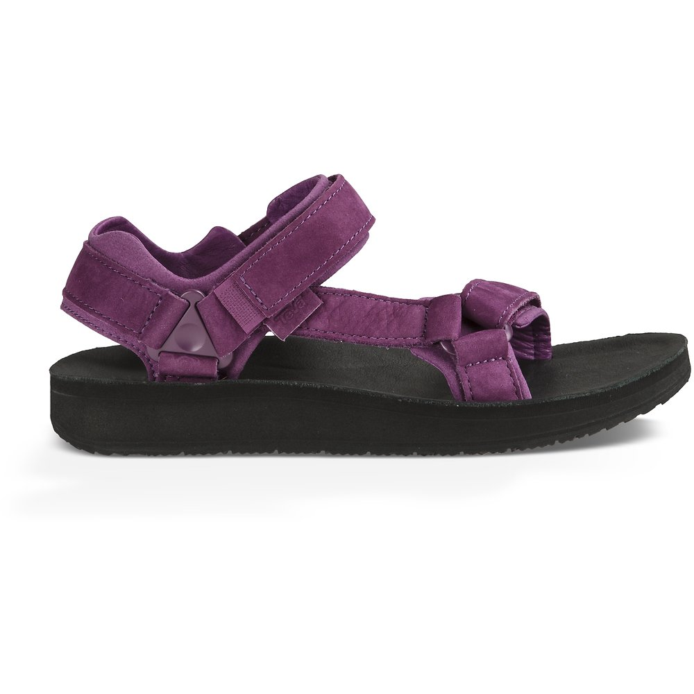 Image of TEVA DARK PURPLE WOMEN'S ORIGINAL UNIVERSAL PREMIER-LEATHER